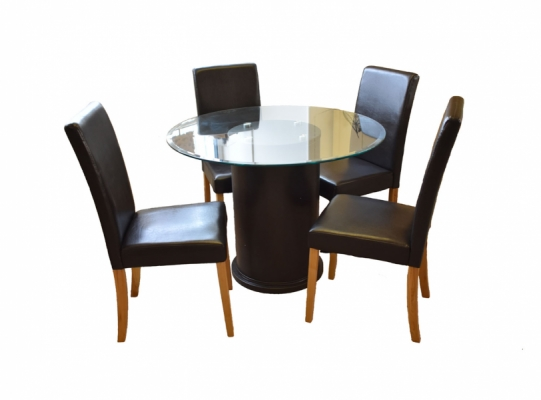 Galaxy Round Table & 4 Chair Set