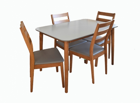 Cora Dining Table & 4 Chairs Set