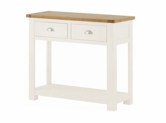 Suffolk White 2 Drawer Console Table