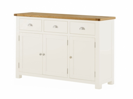 Suffolk White 3 Door Sideboard