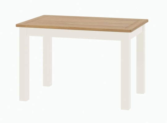 Suffolk White Fixed Dining Table