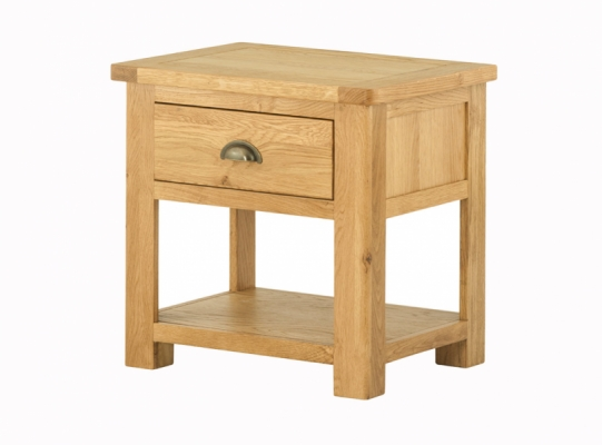 Suffolk Oak Lamp Table inc. Drawer