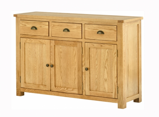 Suffolk Oak 3 Door Sideboard