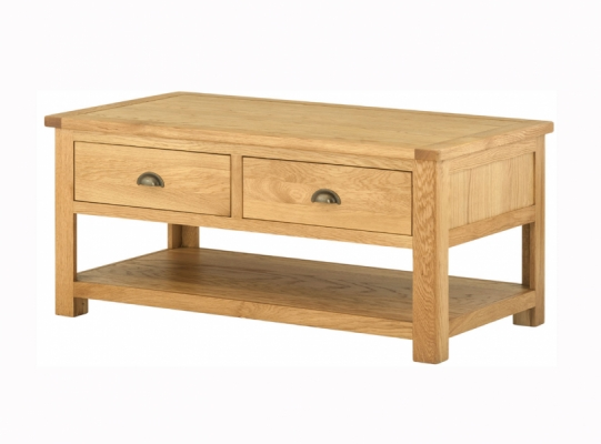 Suffolk Oak Coffee Table with Drawers