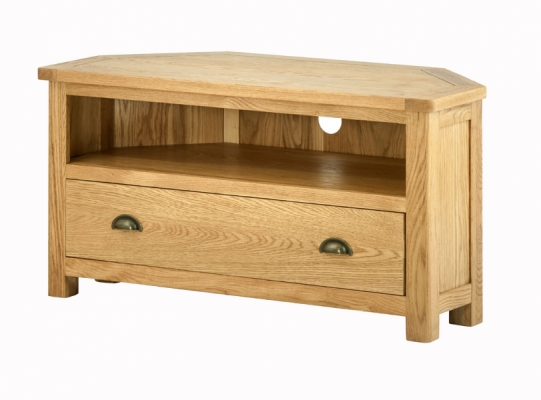 Suffolk Oak Corner TV Unit