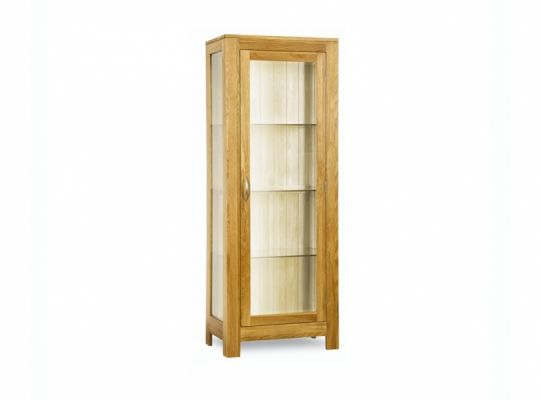 Oxford Oak Glass Display Cabinet