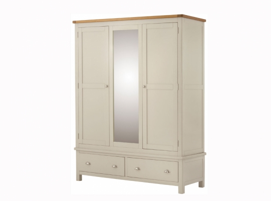 Suffolk Cream Triple Wardrobe