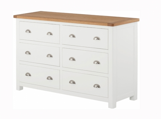 Suffolk White 6 Drawer Chest