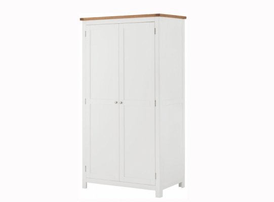 Suffolk White 2 Door Wardrobe