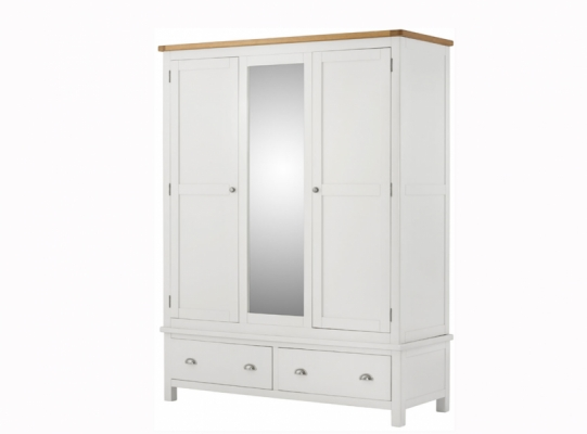 Suffolk White Triple Wardrobe