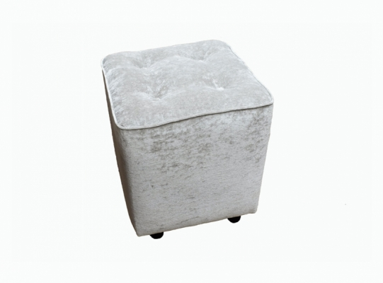 Buttoned Cube Footstool