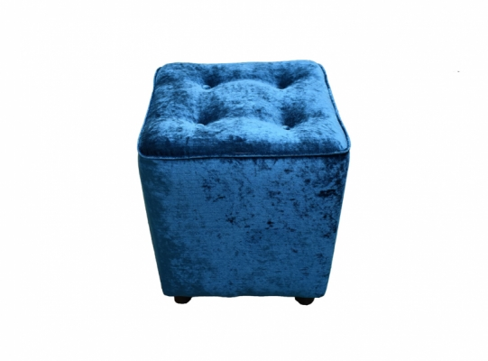 Buttoned Vanity Stool