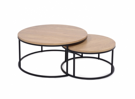 Bergen Round Nest of 2 Tables