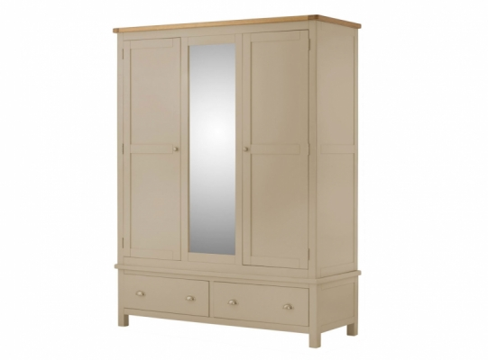 Suffolk Pebble Triple Wardrobe
