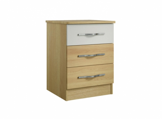 Oskar 3 Drawer Bedside