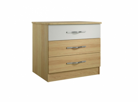 Oskar 3 Drawer Wide Chest