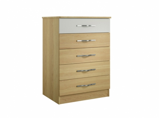 Oskar 5 Drawer Wide Chest