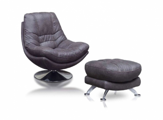 Axis Swivel Chair and Footstool