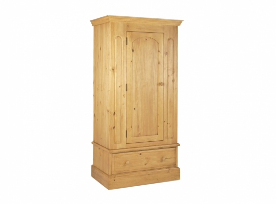 St Ives Pine 1 Door Wardrobe