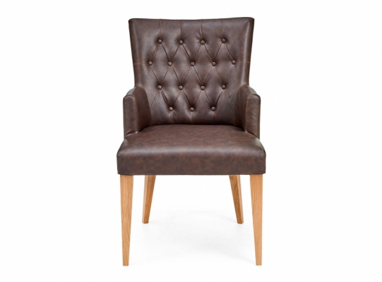 Highgate Bonded Leather Dining Armchair