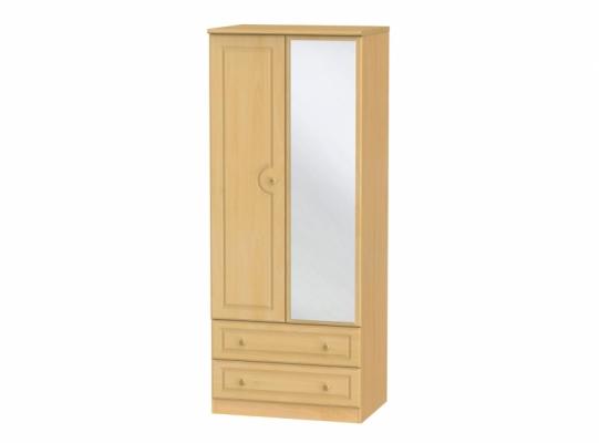 Pembroke 2ft6in 2Drw Mirror Wardrobe