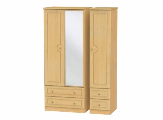 Pembroke Triple 2Drw Mirror + Drw Wardrobe