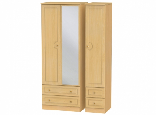 Pembroke Tall Triple 2Drw Mirror + Drw Wardrobe