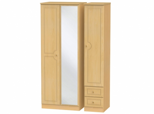 Pembroke Tall Triple Mirror + Drw Wardrobe