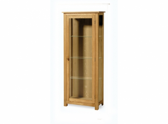 Orlando Oak Glass Display Cabinet