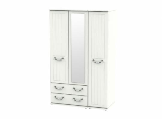 Conway Triple 2 Drawer Mirror Wardrobe