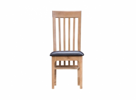 Newbury Slat Back PU Dining Chair