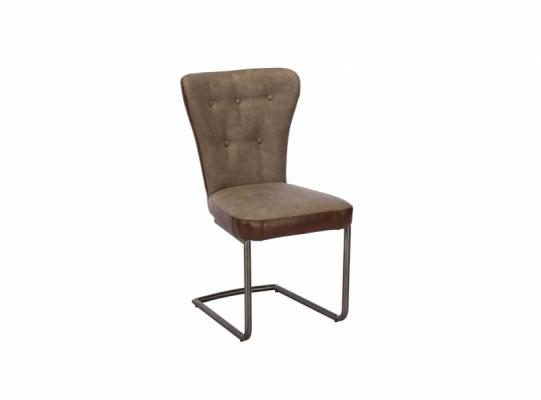 Oscar Dining Chair Grey & Brown