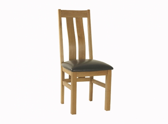 Orlando oak curved back dining chair