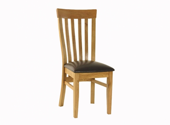 Orlando oak slat back dining chair