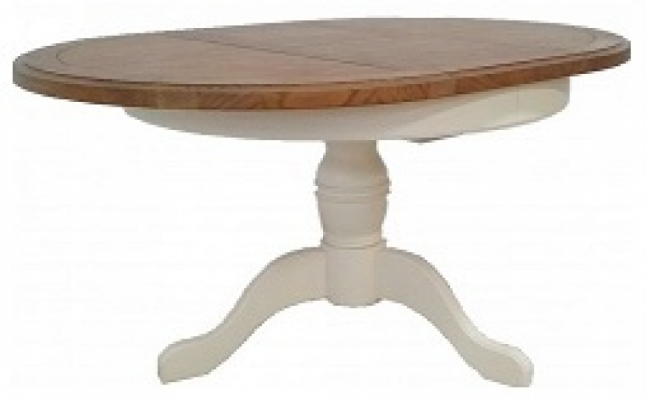 Bloomsbury Cream Round Ext. Dining Table