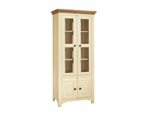 Bloomsbury Cream 2 Door Glazed Cabinet