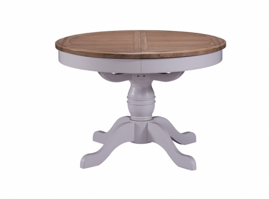 Bloomsbury Grey Round Ext. Dining Table