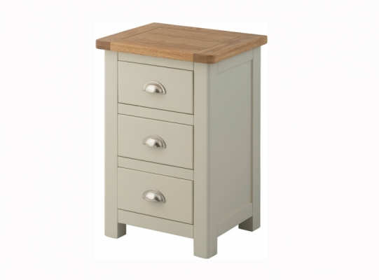 Suffolk Stone 3 Drawer Bedside