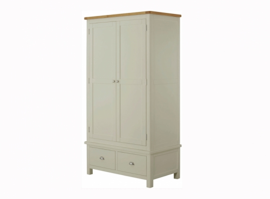 Suffolk Stone 2 Drawer Gents Wardrobe