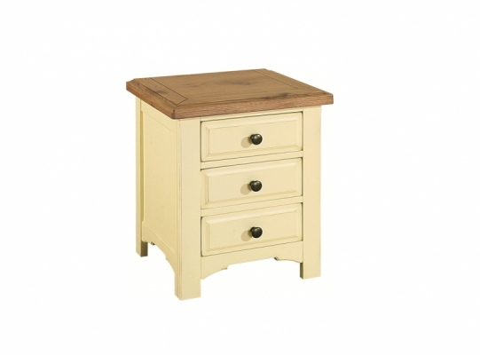 Bloomsbury Cream 3 Drawer Bedside