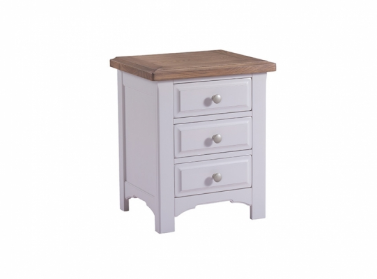 Bloomsbury Grey 3 Drawer Bedside