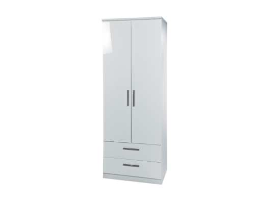 Knightsbridge 2ft6in 2 Drawer Wardrobe