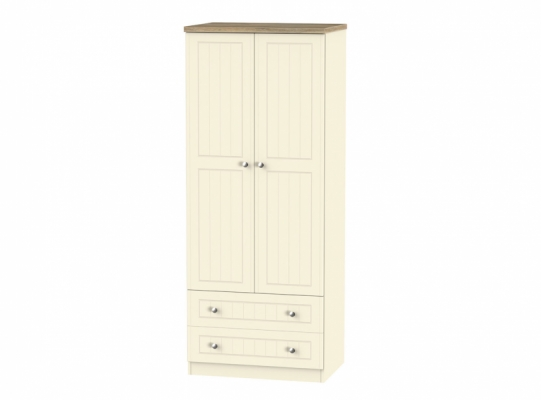 Vienna 2ft6in 2 Drawer Wardrobe
