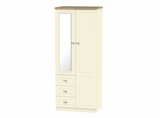 Vienna 2ft6in Combi Wardrobe