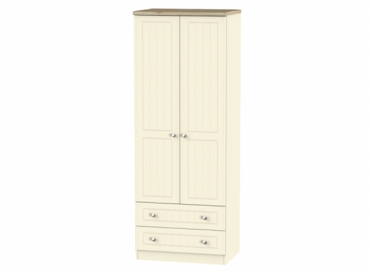 Vienna Tall 2ft6in 2 Drawer Wardrobe