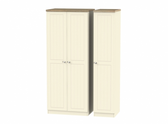 Vienna Triple Plain Wardrobe