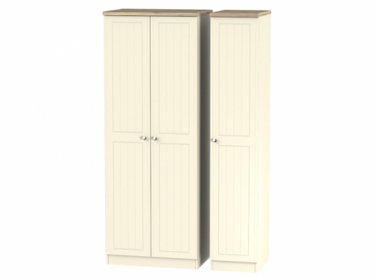 Vienna Tall Triple Plain Wardrobe