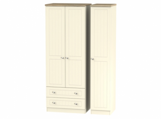Vienna Tall Triple 2 Drawer Wardrobe