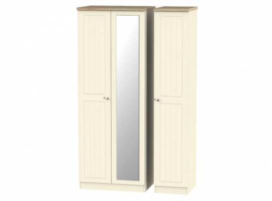 Vienna Tall Triple Mirror Wardrobe