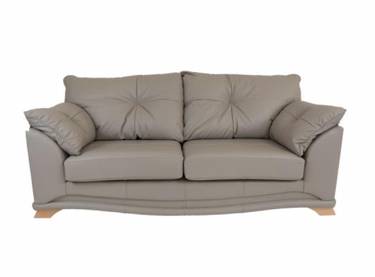 Nicole Leather 3 Seater Sofa